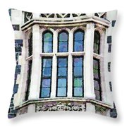 The Heritage Windows Of The Teachers' College Throw Pillow