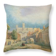 The High Street Lincoln  Throw Pillow