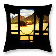 The Hills In Old Tuscon Az Throw Pillow