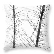 The Hirsute Trees Throw Pillow