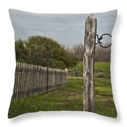 The Hitching Post Throw Pillow