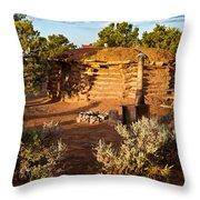 The Hogan Near Spider Rock Throw Pillow