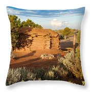 The Hogan Where  We Stayed Canyon Dechelly Nps Throw Pillow