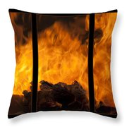The Home Fires Are Burning Triptych Throw Pillow