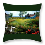 The Homestead Throw Pillow