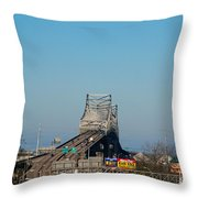 The Horace Wilkinson Bridge Over The Mississippi River In Baton Rouge La Throw Pillow