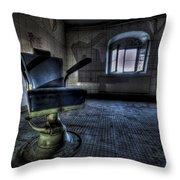 The Horror Chair Throw Pillow