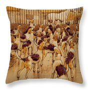 The Hounds Began Suddenly To Howl In Chorus  Throw Pillow