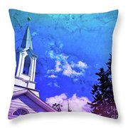The House Of Men Under The House Of God Throw Pillow