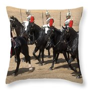 The Household Cavalry Performs Throw Pillow