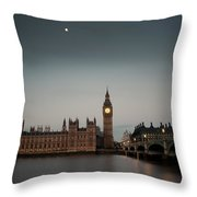The Houses Of Parliament Throw Pillow