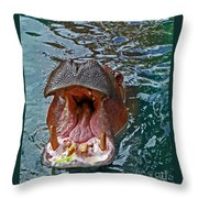 The Hungry Hippo Throw Pillow