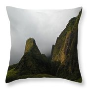The Iao Needle Throw Pillow