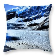 The Ice Fields Throw Pillow
