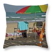 The Idyll On The Mediterranean Shore Throw Pillow