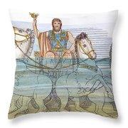 The Iliad: Neptune, 1805 Throw Pillow