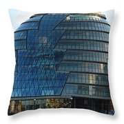 The Imposing Glass Greater London Mayoral Building On The Banks Of The Thames Throw Pillow