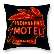 The Indianhead Throw Pillow