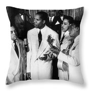 The Ink Spots, C1945 Throw Pillow