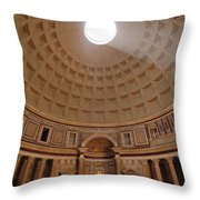 The Inside Of The Pantheon Throw Pillow