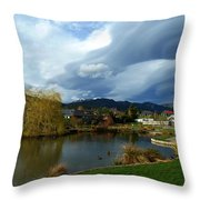 The Invasion Has Started Throw Pillow