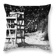 The Invisible Watcher Throw Pillow