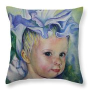 The Iris Princess Throw Pillow