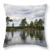 The Island In The Middle Throw Pillow
