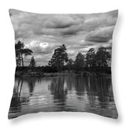 The Island In The Midlle In Bw Throw Pillow
