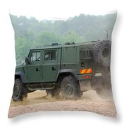The Iveco Light Multirole Vehicle Throw Pillow