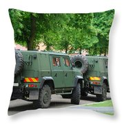 The Iveco Lmv Of The Belgian Army Throw Pillow