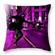 the Joker about to Pounce Throw Pillow