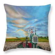 The Journey Of A Farmer Throw Pillow