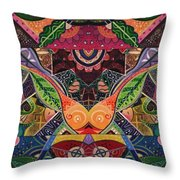 The Joy Of Design Series Arrangement Embracing Complexity Throw Pillow