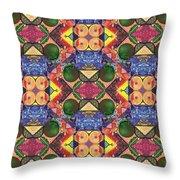 The Joy Of Design Series Arrangement Twenty Times Over Throw Pillow