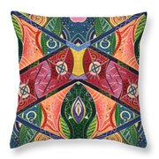 The Joy Of Design V Arrangement Showing Respect Throw Pillow