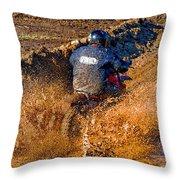 The Joy Of Mud Throw Pillow