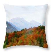 The Julian Alps In Autumn At Lake Bohinj Throw Pillow