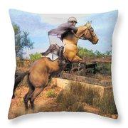 The Jumper Throw Pillow