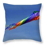 The Kaleidoscope Kite Throw Pillow by Rod Johnson
