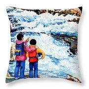 The Kayak Racer 14 Throw Pillow