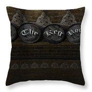 The Keg Room Version 1 Throw Pillow by LeeAnn McLaneGoetz McLaneGoetzStudioLLCcom