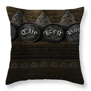 The Keg Room Version 3 Throw Pillow