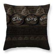 The Keg Room Version 4 Throw Pillow