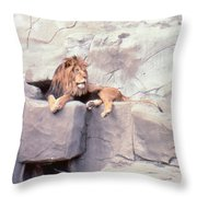 The King At Rest Throw Pillow