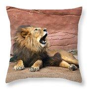 The King Speaks Throw Pillow