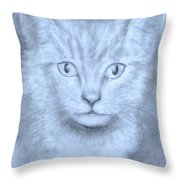 The Kitten Throw Pillow