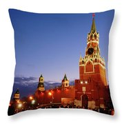 The Kremlin In Moscow Throw Pillow