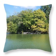 The Lake In Central Park Throw Pillow