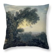 The Lake Of Albano And Castle Gandolfo  Throw Pillow
